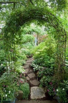 Beautiful garden arch over a pathway from pieces of an old sidewalk. - Beautiful garden arch over a pathway from pieces of an old sidewalk. Beautiful garden arch over a - Cottage Garden Design, Vegetable Garden Design, Vegetable Gardening, Organic Gardening, Gardening Tips, Urban Gardening, Backyard Cottage, Container Gardening, Path Design