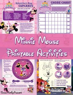 Minnie Mouse Printables, Minnie-rella Activities, Worksheets