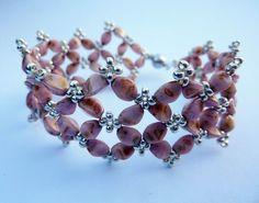 Pinch bead bracelet Beadwork, Beaded Bracelets, Pendants, Beads, Earrings, Accessories, Beading, Ear Rings, Bead