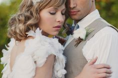 Seriously romantic and soft wedding picture of bride and groom