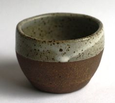 Image of Hand thrown & moulded sugar pot: Oatmeal glaze
