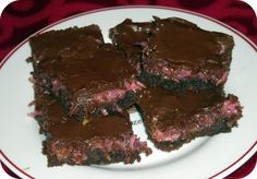 Fudgy Coconut Valentine Brownies Recipe