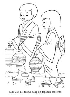 """iColor """"Around The World"""" ~ Children of Other Lands, 1954 Japan Disney Coloring Pages, Colouring Pages, Coloring For Kids, Coloring Books, Coloring Sheets, Sue Sunbonnet, World Thinking Day, Kids Around The World, Asian Kids"""