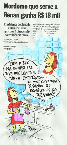Mordomias de Renan sustentadas com dinheiro público