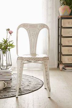 Pretty painted chair.