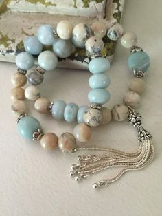 Beachy blue colors. I love these. ~ ap