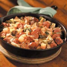 Kielbasa Cabbage Skillet.  My aunt used to make something like this, it always smelled so good, going to give it a try