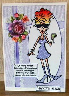 Rita takes mama s advice on Craftsuprint designed by Carol Smith - made by Cheryl French - Printed onto glossy photo paper. Attached base image to card stock using ds tape. Built up image with 1mm foam pads. Added gems. - Now available for download!