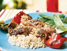 Chicken Skewers with Soy-Mirin Marinade - http://justgetideas.com/chicken-skewers-soy-mirin-marinade/