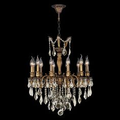 Buy the Worldwide Lighting Antique Bronze Direct. Shop for the Worldwide Lighting Antique Bronze Versailles 12 Light 1 Tier Antique Bronze Chandelier with Clear Crystals and save. Round Chandelier, Bronze Chandelier, Chandelier Lighting, Chandelier Ideas, Crystal Chandeliers, Versailles, Light Bulb Wattage, Light Chain, Light Bulb Types