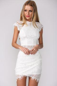HelloMolly | Aussie Babe Skirt White - Bottoms