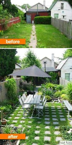 Garden idea - before and after