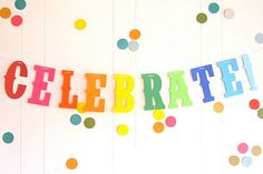 CELEBRATE!, Party Banner, Rainbow Party, Primary Colors, Pride Banner, Party Banner, Photo Booth Ban
