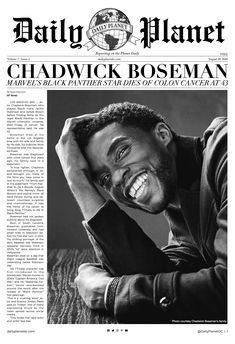 Tonight a legend was lost. We are so dearly disheartened to hear about Chadwick's passing. May he rest in peace.