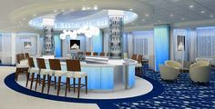 Celebrity Summit, coolest Martini Bar ever...