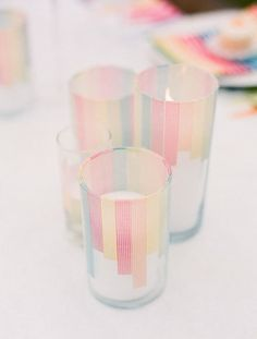 Washi Tape Candle Ideas - Wedding Ideas, Wedding Trends, and Wedding Galleries