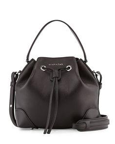 Givenchy Lucrezia Waxy Leather Bucket Bag, Black