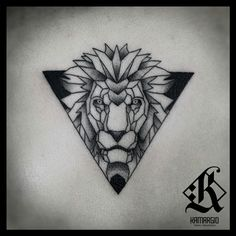 Lion, geometric, animal, geometry