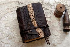 Afterthoughts Rustic Leather Journal Dark Brown by bibliographica