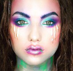 Colour reative make-up; fantasy