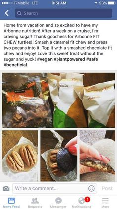 Arbonne Fit Chews Turtles. Used Chocolate & Carmel Fit Chews,Pecans. So Yummy! Order your Fit Chew at: http://luzmariaheredia.arbonne.com