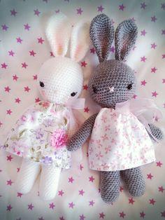 bunny girl,crochet bunny,amigurumi bunny by zizubizus on Etsy