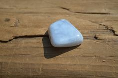Tumbled Blue Lace Agate Stone Magnet by DejaVuDesignz2 on Etsy