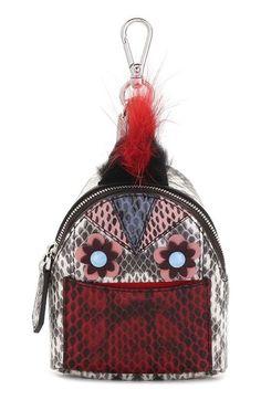 Fendi 'Monster' Genuine Snakeskin with Genuine Fox & Nutria Fur Trim Bag Charm available at #Nordstrom