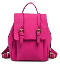 Merona Vertical Buckles Backpack Handbag Adjustable Straps Rose Pink NWT in Clothing, Shoes & Accessories, Women's Handbags & Bags, Handbags & Purses   eBay
