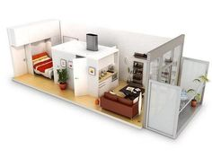 Perfect shipping container floor plan!