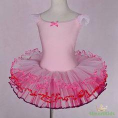 Girl-Pink-Ribbon-Ballet-Tutu-Ballerina-Dance-Costume-Fancy-Dress-Kid-Sz-4-5-049
