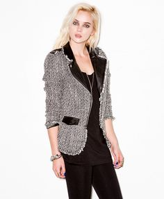 Faux Leather & Tweed Jacket #capsule2point1 #exclusivecollection