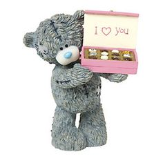 A sweet treat for any Me To You fan, this adorable figurine features the charming Tatty Teddy as he offers a box of chocolates. Who could resist? Tatty Teddy, Teady Bear, Bear Valentines, Valentine Ideas, Paul's Boutique, Blue Nose Friends, Cute Teddy Bears, House Mouse, Brown Leopard