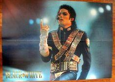 Michael Jackson Poster From Black & White Magazine 1990´s Concert - http://www.michael-jackson-memorabilia.com/?p=6625