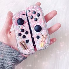 "♡︎ peachiedeco ♡︎ on Instagram: ""Pocky Switch case! 💖 one of my absolute favourites~ this one has sold out but I will be making ONE more only for the standard switch 👀 -…"" Nintendo Switch Accessories, Otaku Room, Gaming Room Setup, Cute Polymer Clay, Korean Aesthetic, Cute Gif, Cool Gadgets, I Got This, Animal Crossing"