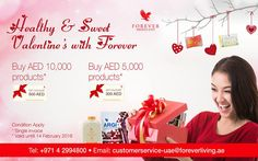 Healthy & Sweet Valentine's with Forever   Express your one-of-a-kind  <3  this Valentine's Day with Special Forever Valentine Gift!!!