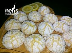 """to make a """"Starch-Free"""" Recipe with Lemon Cracked Cookies? How to make a """"Starch-Free"""" Recipe with Lemon Cracked Cookies?, How to make a """"Starch-Free"""" Recipe with Lemon Cracked Cookies? Donut Recipes, Lemon Recipes, Snack Recipes, Starch Free Recipe, Cracked Cookies, Healthy Donuts, Sheet Cake Recipes, Sweet Cookies, Sweets"""