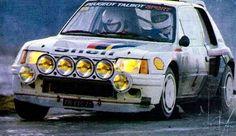 Monte Carlo 1985 Ari Vatanen.  peugeot 205 t16