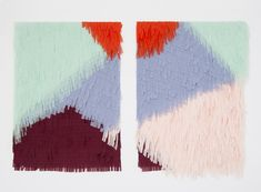 LGH.Wall Hangings.Confettisystem_LEFT_Textile no. 24_RIGHT_Textile no. 41_natural and synthetic fibers 81,5 * 116,8 cm