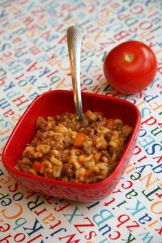 One Pot Wonders For Babies & Toddlers Bébé Bolognese – great homemade kid friendly meal. I freeze this in silicone muffin cups for quick easy meals for the kids! Toddler Meals, Kids Meals, Toddler Food, Baby Meals, Toddler Finger Foods, Baby Food Recipes, Cooking Recipes, Pasta Recipes For Babies, Skillet Recipes