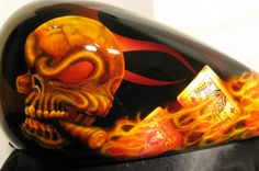 motorcycle real flame paint jobs - Google Search