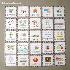 toy label organization freebies - the handmade homethe handmade home