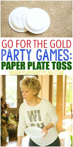 10 hilarious Olympics party games that are perfect for getting ready for the 2016 summer games in Rio! Fun for kids, for teens, and even for adults! Tons of simple minute to win it style activities that use things around the house. And for your winners? Games For Elderly, Games For Teens, Adult Games, Home Party Games, Summer Party Games, Dinner Party Games, Relay Games, Fun Games, Fun Office Games