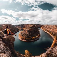 Photo of the Day: Go with the flow. @the_world_with_u posts up with a #GoProHERO6 above the Hoces del Río Duratón Natural Park in #Spain. Where did the #weekend take you? Share with us at GoPro.com/Awards. • • • @GoProES #GoProES #LandscapePhotography #GetOutside #Hiking