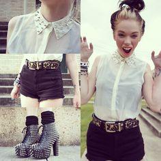 grav3yardgirl, studs, fashions, jeffrey campbell, litas, spies, leopard, shorts, texas