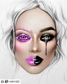 eye makeup illustration make up / eye makeup illustration make up Queen Makeup, Fx Makeup, Makeup Inspo, Face Makeup Art, Makeup Ideas, Mac Face Charts, Makeup Illustration, Makeup Face Charts, Makeup Drawing