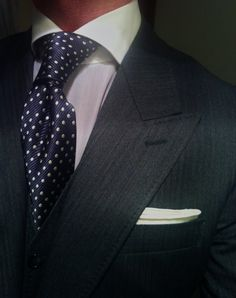 #Suit #Herringbone #Necktie Made to measure, #Collar Shirt, Fashion, Scabal - Follow @thegeniusboss for more pics like this!