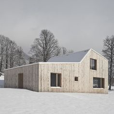This doctor's surgery in the Austrian Alps by Graz-based architects Hammerschmid Pachl Seebacher was inspired by small wooden hay barns