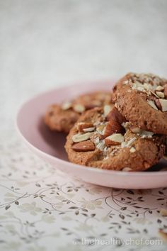 Salted Peanut Butter Cookies #Grain Free | The Healthy Chef