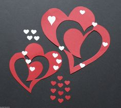 """Fensterbild,Doppelherzen,HERZ,Tonkarton,filigran,Herbst,Deko,Liebe,Freundschaft FOR SALE • EUR 3,20 • See Photos! Money Back Guarantee. Herzlich willkommen zu dieser Auktion ... Ich biete hier eines meiner selbst gebastelten Fensterbilder an; *** 2 Doppelherzen """"Herz im Herz"""" ***~~ mit kl. weißen Herzchen verziert ~~ *** + 302036275380"""